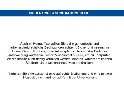 Online Unterweisung Home Office