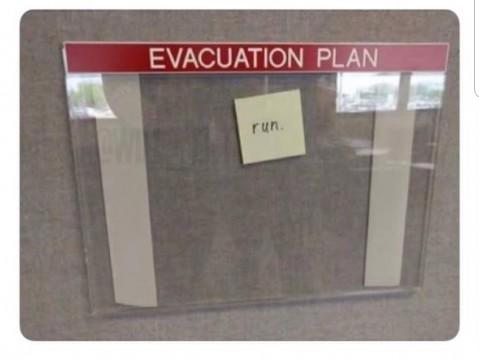 Evakuierungsplan?