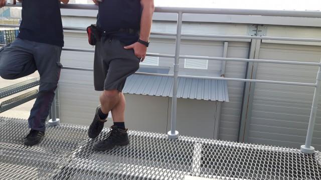 Geländer mit falscher Aufteilung
