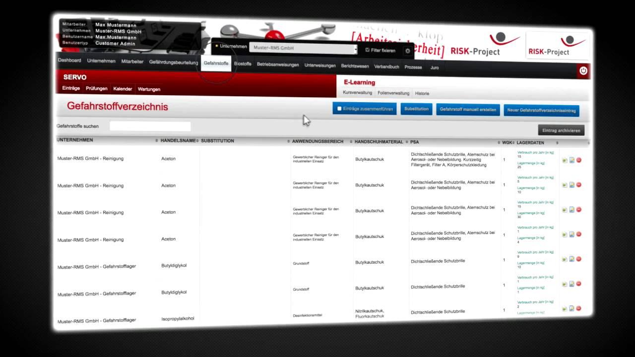 RISK-Project Arbeitsschutz-Software und Gefährdungsbeurteilung